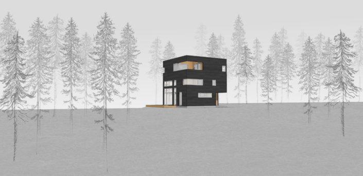 Modern Cabin Design - Waterfalls Properties NY