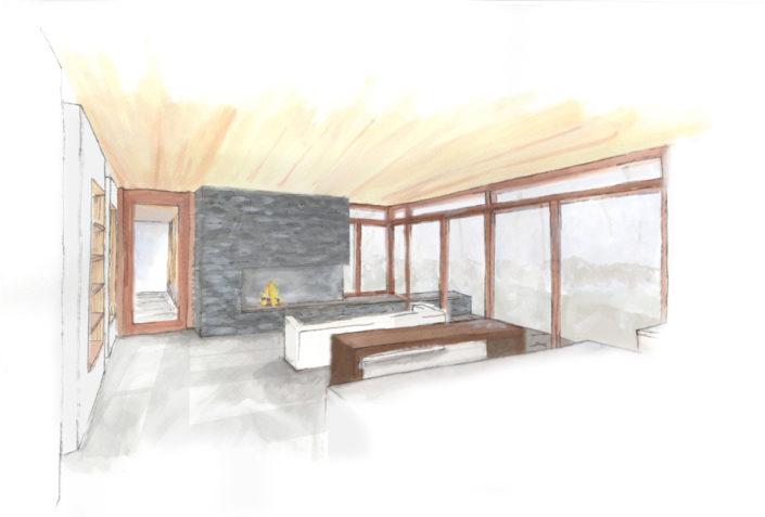 Luna - Interior sketch - Modern Design