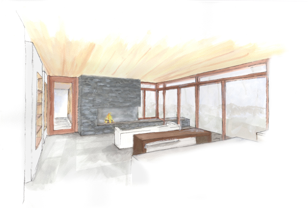 Luna interior sketch modern design