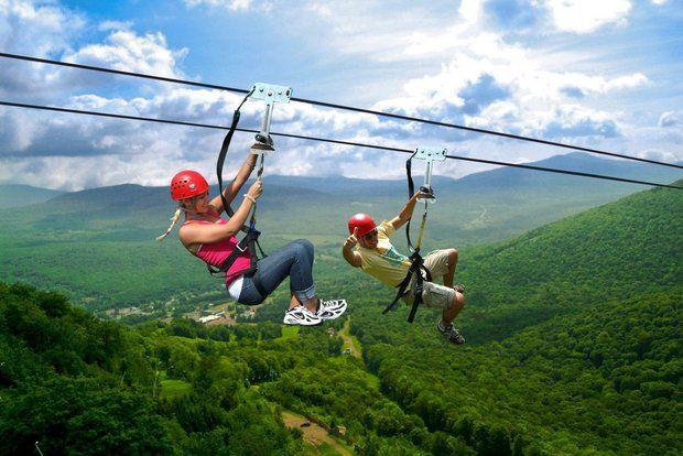 Zip Lining at Hunter Mountain - Crazy Big Adventures - Upstate New York