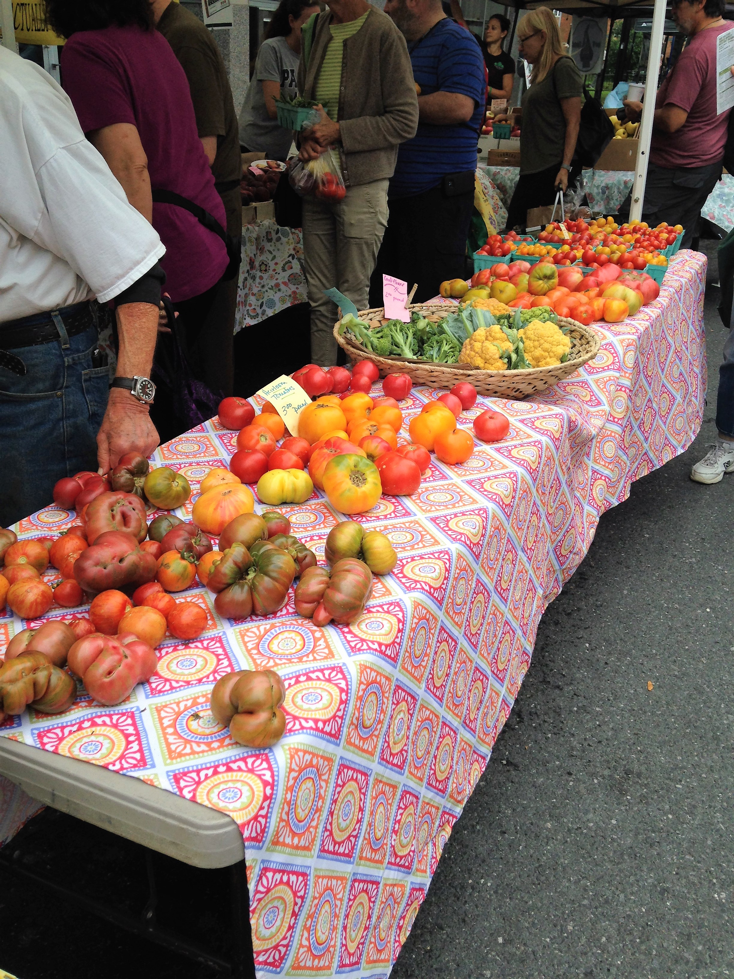 Heirloom Tomatoes - Kingston Farmers Market, Hudson Valley, NY