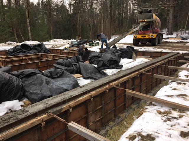 Chalet Perche Construction Update Concrete Foundation