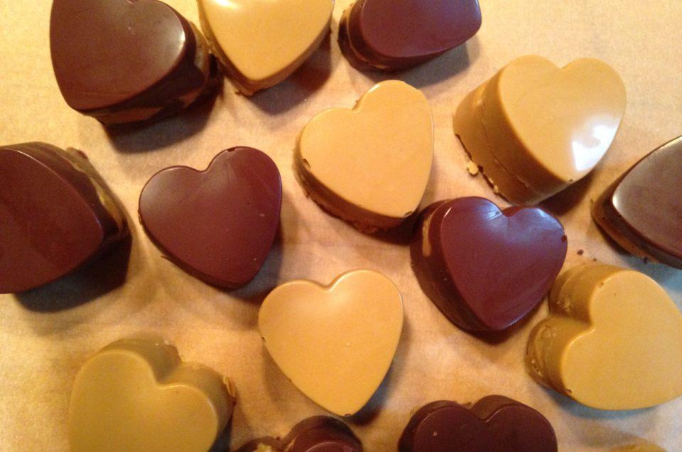 Hudson Valley Valentines: Chocolate Peanut Butter Hearts