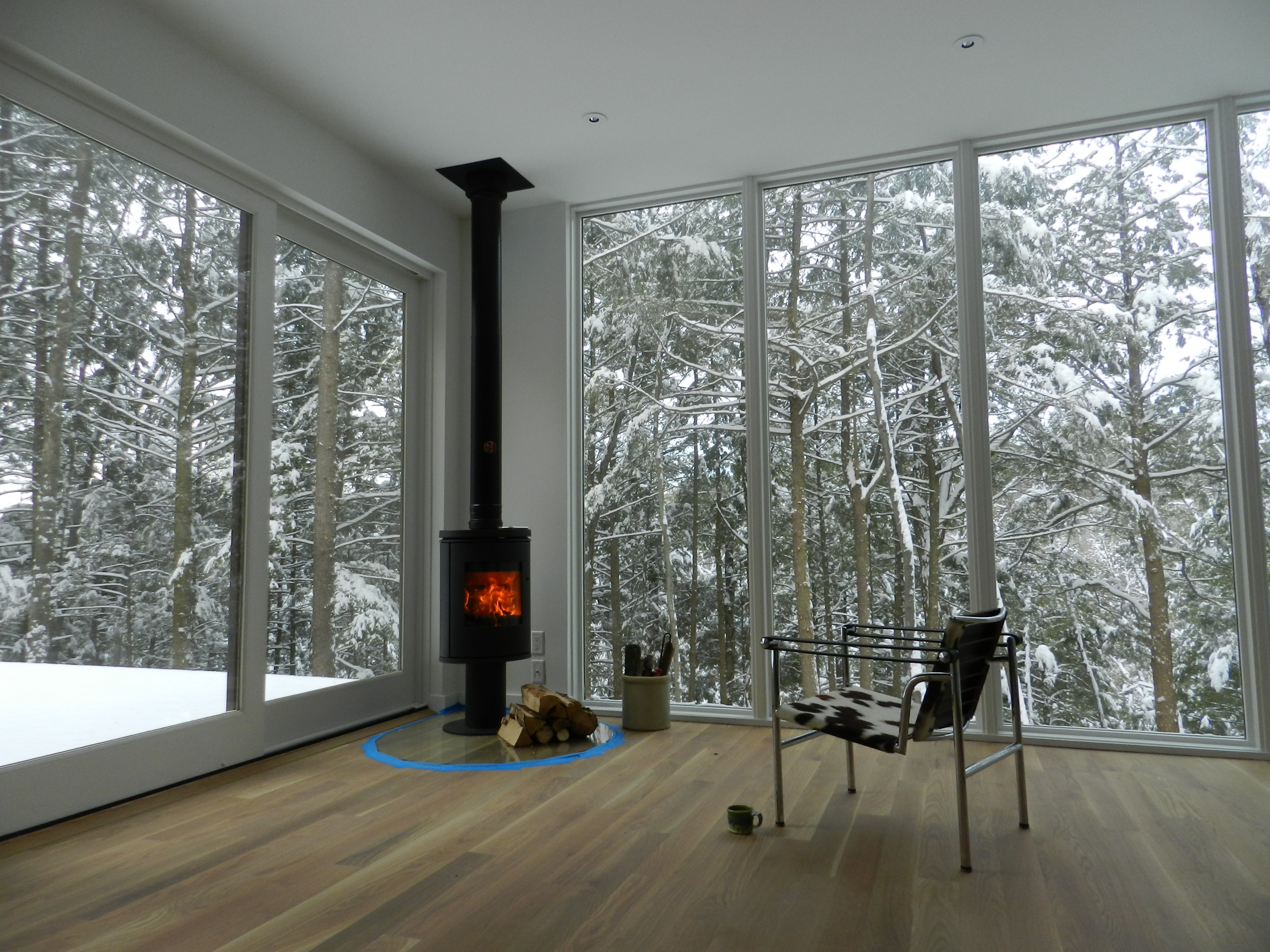 Winter At Waterfalls Properties Hv Contemporary Homes Modern Design In Ny S Hudson Valley